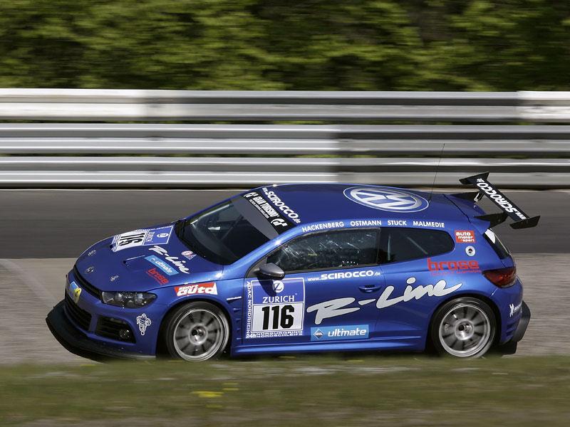 VW Scirocco se připravuje na 24 hodin na Nürburgringu - nové foto!: - fotka 6