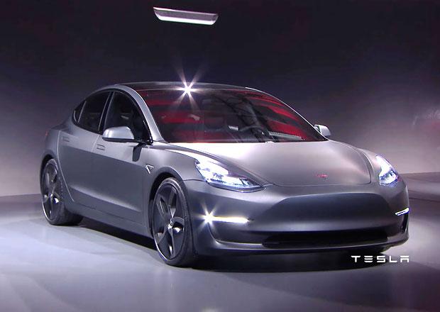 Tesla Model 3 nebude mít head-up displej ani přístrojový štít