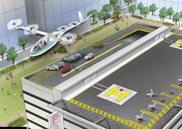 Uber chce mít do roku 2020 létající taxi