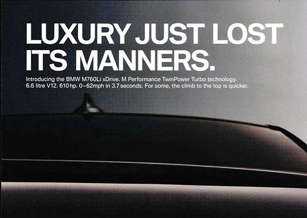 BMW opět zhřešilo. Zakázali mu další reklamu. Údajně svádí k rychlé jízdě