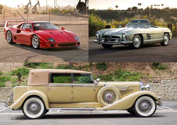 Nejdražší klenoty z aukce klasik v Santa Monice: Nádherný 300 SL Roadster a Ferrari F40