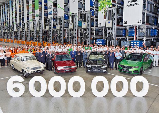 Další škodovácké jubileum: Octavia slaví 6 milionů vyrobených kusů