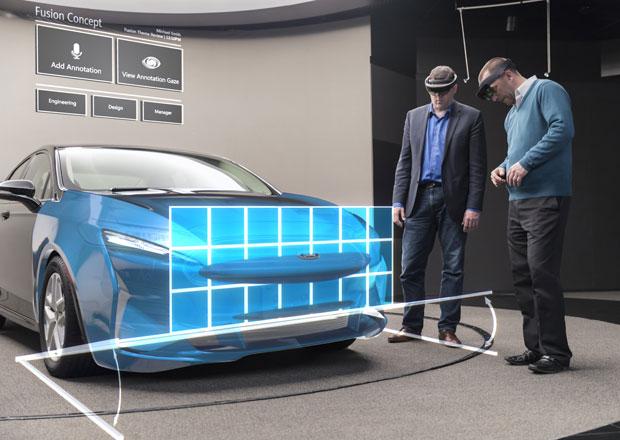 Ford používá při projektování karoserií holografické brýle. Nahradí hliněné modely?