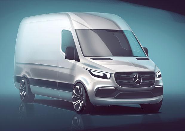 Mercedes-Benz začíná odhalovat novou generaci dodávek Sprinter