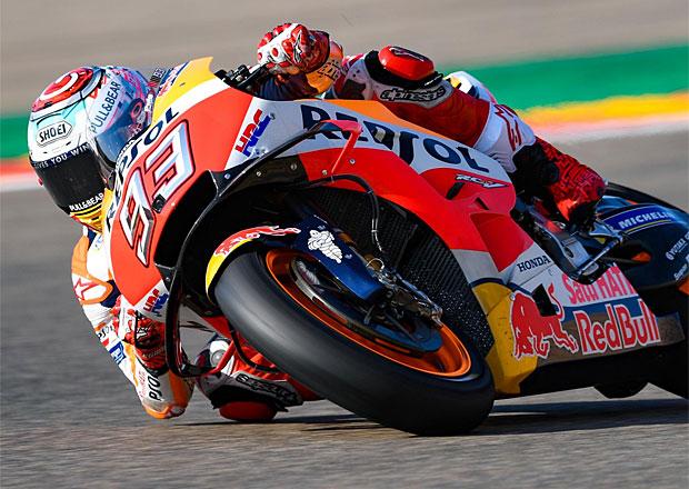 Motocyklová VC Aragonie 2018: Po boji s Dovim vítězí v MotoGP Marc Márquez