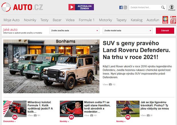 Už zítra lehký facelift Auto.cz. Revoluce to nebude