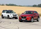 Mazda CX-3 1.5 Skyactiv-D vs. Škoda Yeti 2.0 TDI