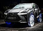Crossover Lexus NX dostal ledová kola (video)