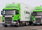 Scania na CNG ve službách Škoda Auto