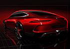Mercedes-AMG GT: První teaser čtyřdveřového fastbacku!