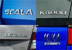 Škoda a názvy jejích aut. Jak dostaly své jméno Octavia, Felicia nebo nová Scala?
