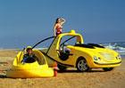 """Rinspeed X-Trem M.U.V. byl koncept pick-upu s """"jeřábem"""" a vznášedlem na korbě!"""